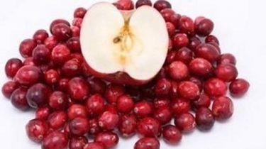Яблоко и брусника для приправы фото