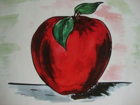 Красное яблоко для рассказа Яблоко