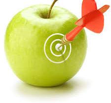 Попадание прямо в яблочко картинка