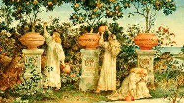Геспериды и золотые яблоки картинка